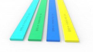 High Quality 70 Hardness Polyurethane Silk Screen Printing Squeegee Rubber Scraper